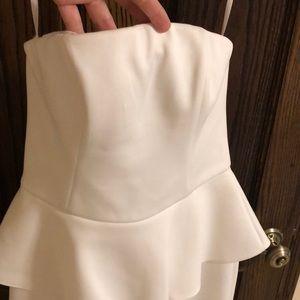 Cache Dresses - White strapless dress